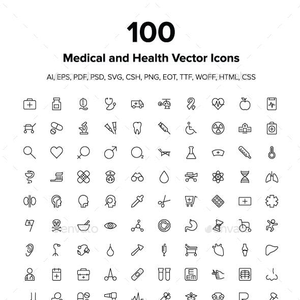 Medical and Health Vector Icons Pack