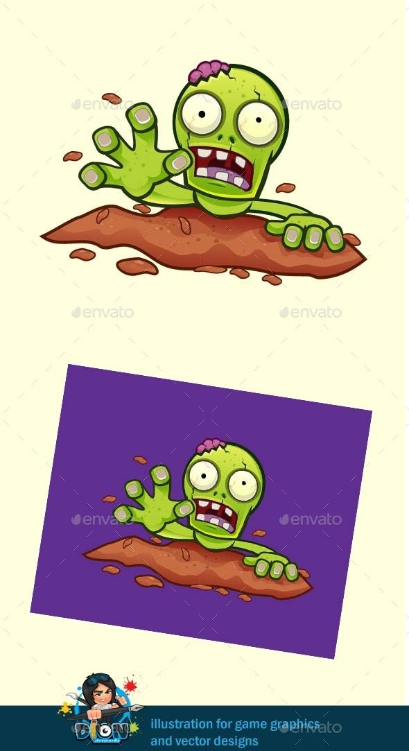 Crawling Zombie - Characters Vectors