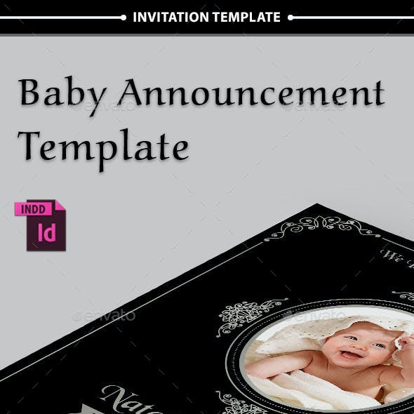 Baby Announcement Template - Vol.4