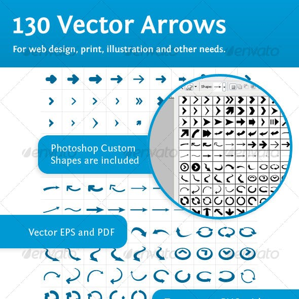 130 vector arrows