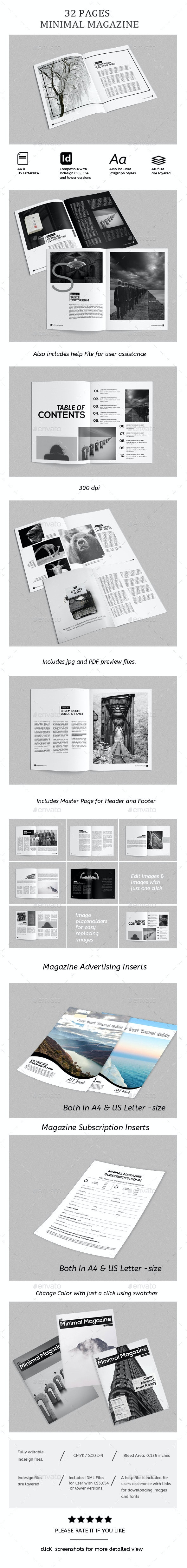 Magazine Template - InDesign 32 Page/ Catalog - Magazines Print Templates