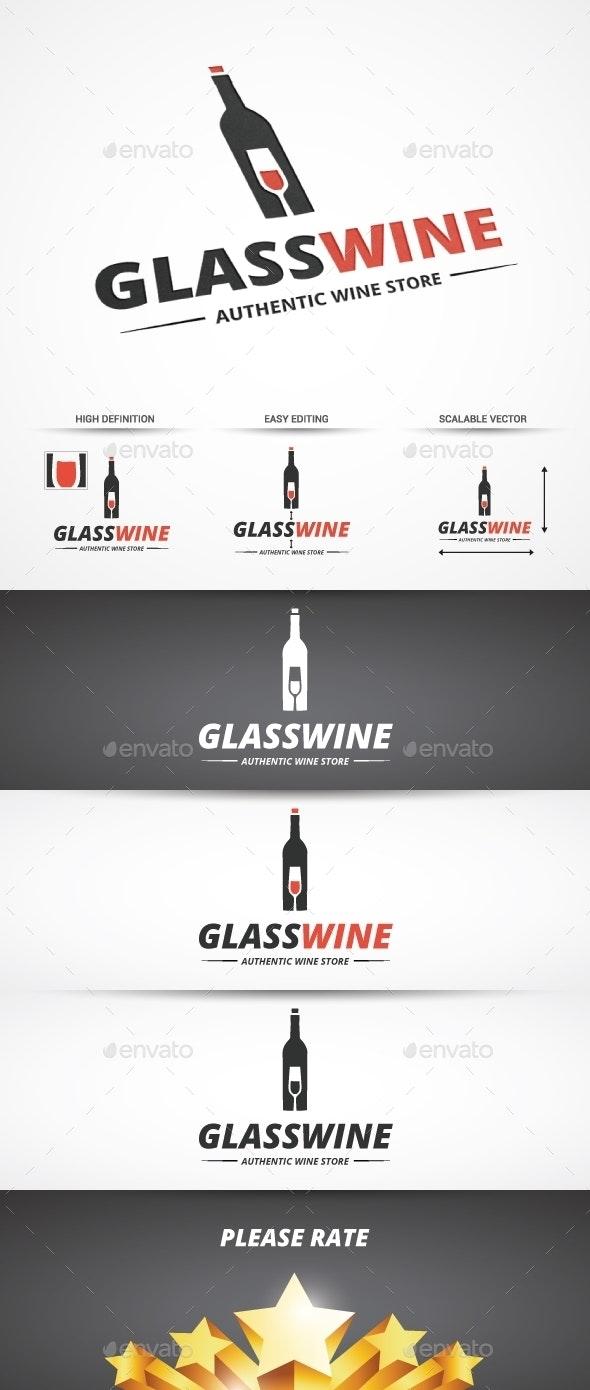 Glass Wine Logo - Objects Logo Templates