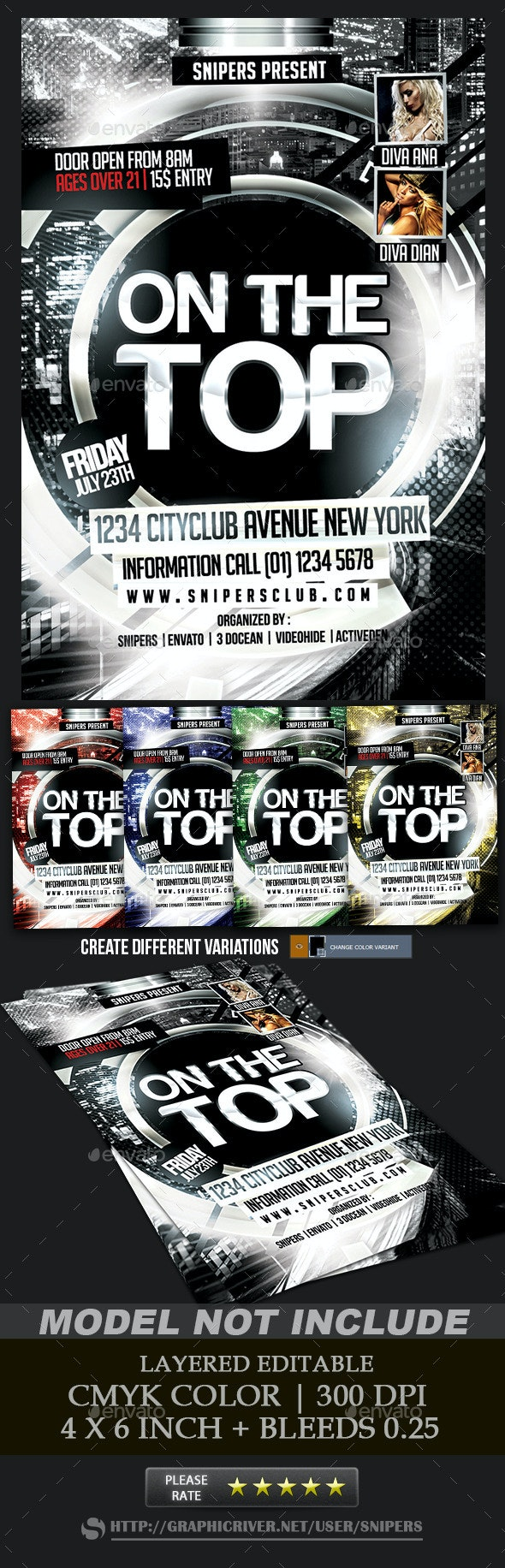 On the Top Flyer - Events Flyers