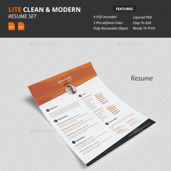 Lite - Clean & Modern Resume Template