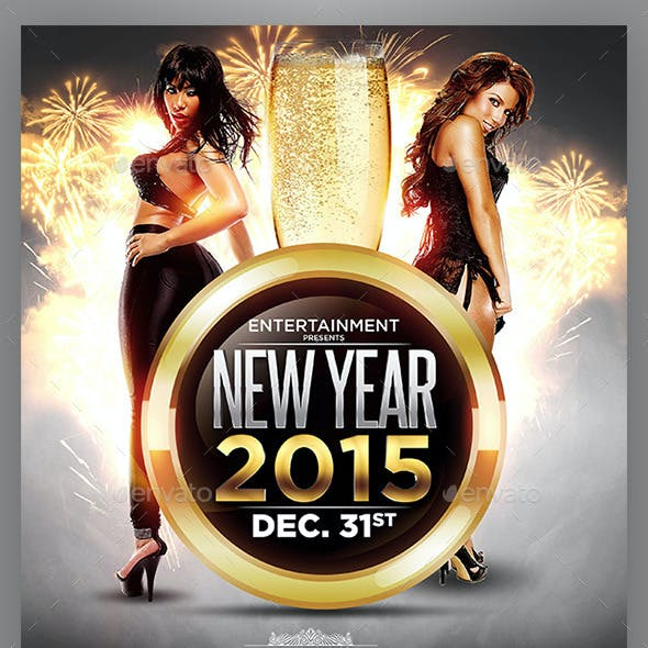 Take Over Saturdays or NYE Flyer Template