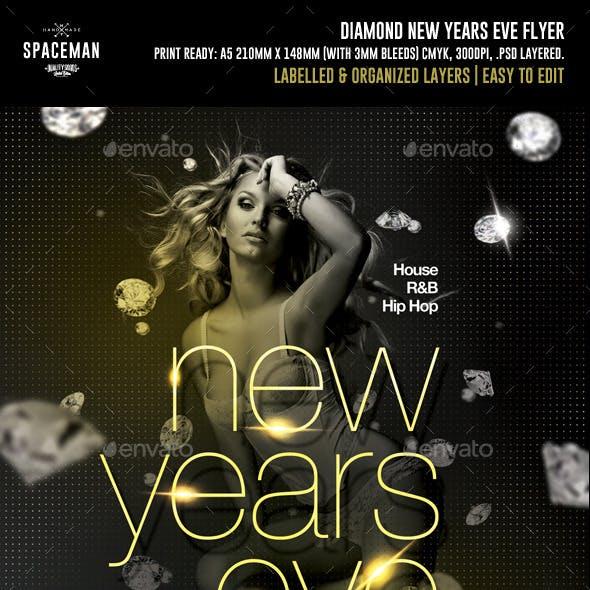 Diamond New Years Eve Flyer