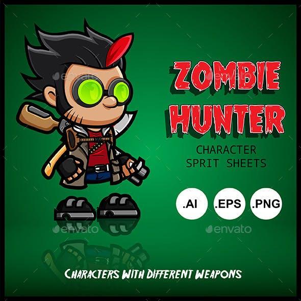 Zombie Hunter Character Spritsheets