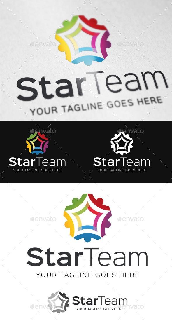 Star Team Logo Template - Abstract Logo Templates