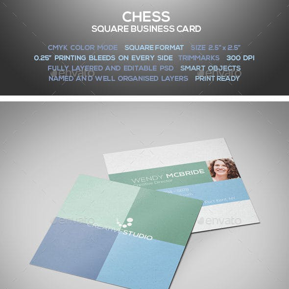 Chess - Square Business Card