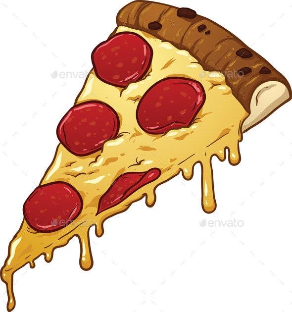 Salami Pizza Slice - Food Objects