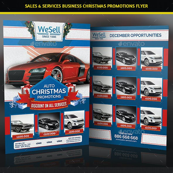 Sales and Services Christmas Promotions Flyer