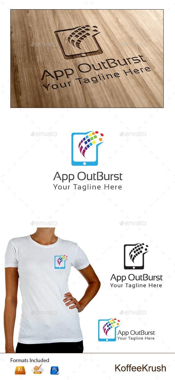 App Outburst Logo - Symbols Logo Templates