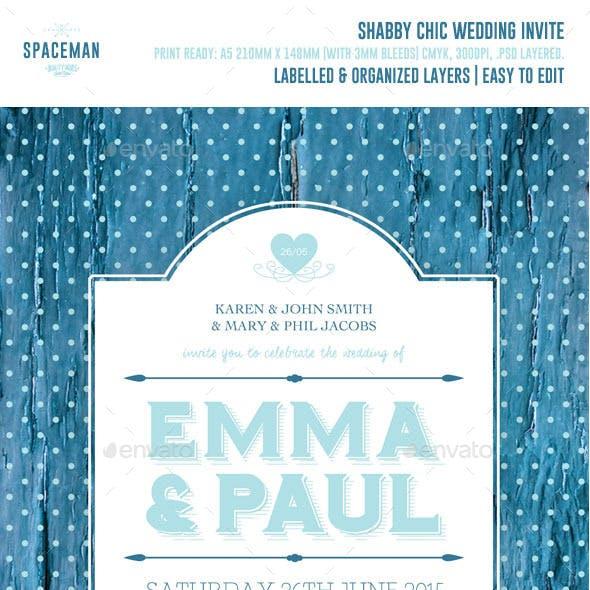 Shabby Chic Wedding Invite