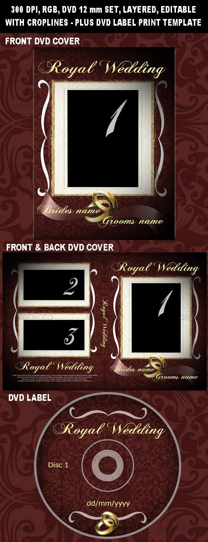 Royal Wedding DVD cover - CD & DVD Artwork Print Templates
