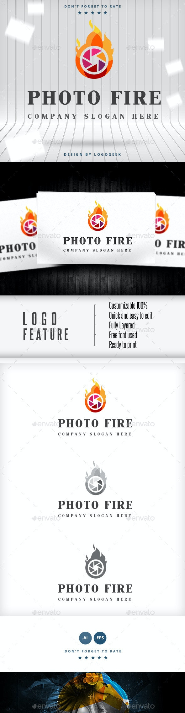Photo Fire Logo - Logo Templates
