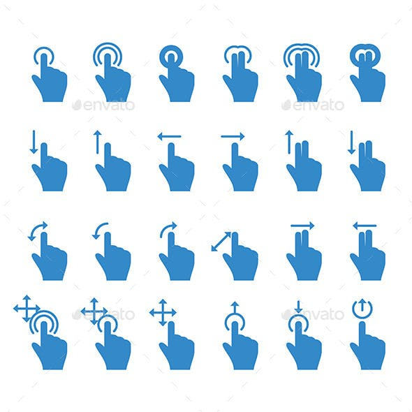 Hand Touch Icons