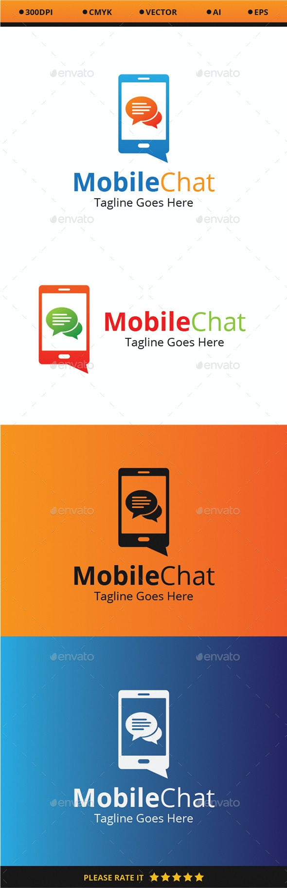Mobile Chat - Logo Templates