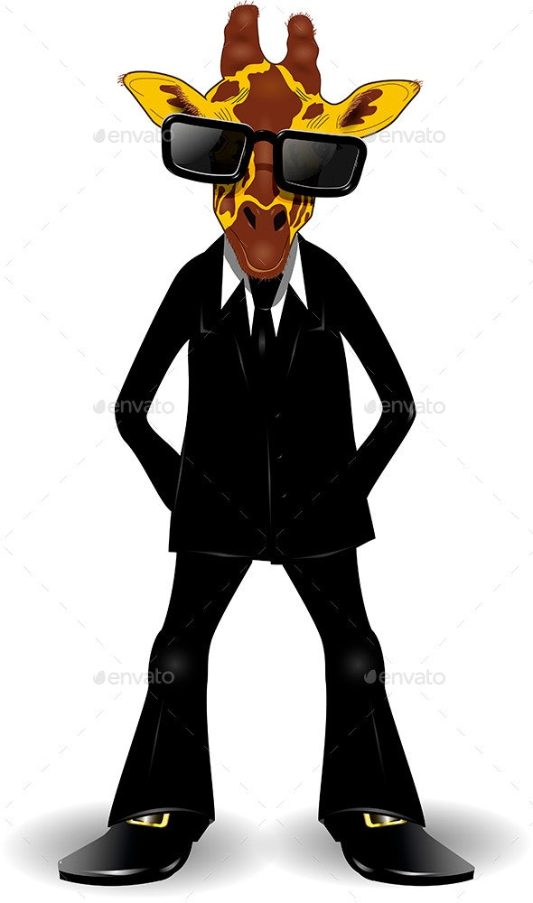 Giraffe in a Suit - Animals Characters