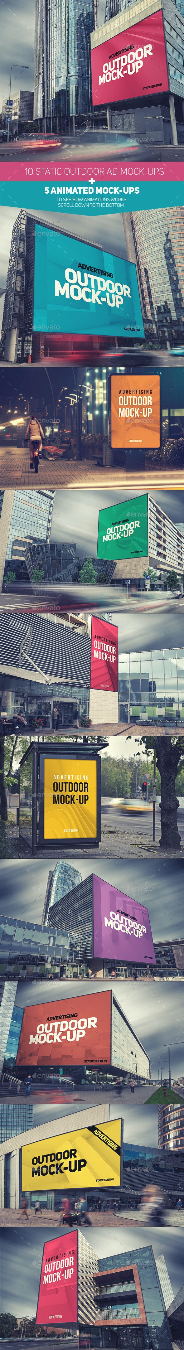 Animated Outdoor Advertising Mock-ups - Signage Print