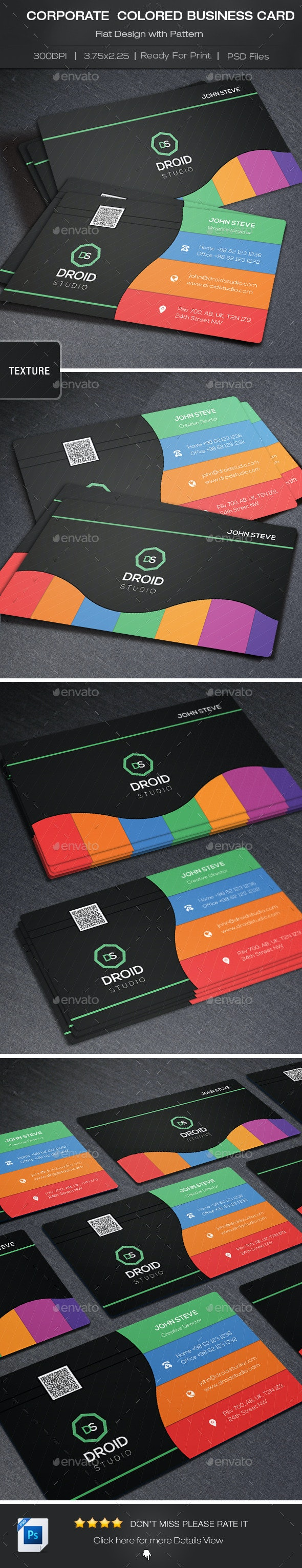Corporate Colored Business Card - Corporate Business Cards