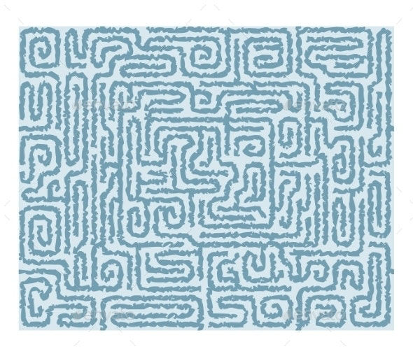 Seamless Labyrinth Background - Miscellaneous Vectors