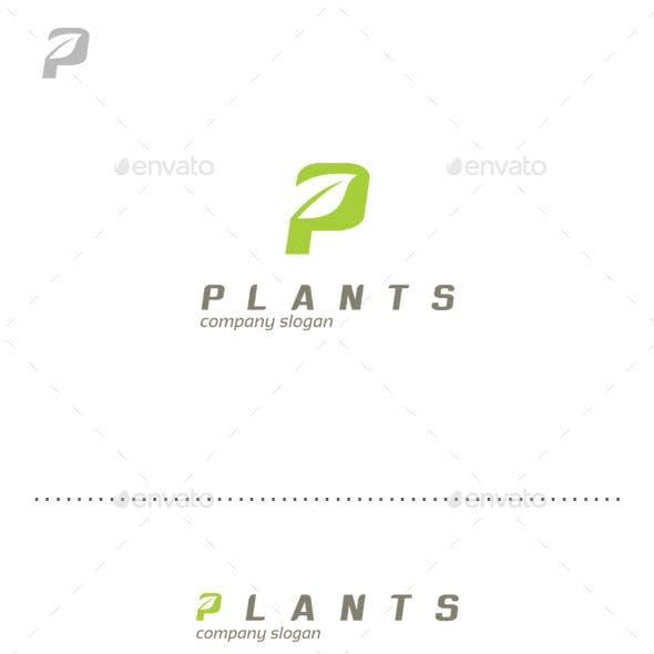Plants - Letter P Logo