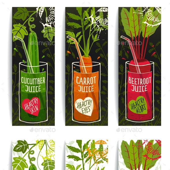 Healthy Vegetables Juices Design Collection