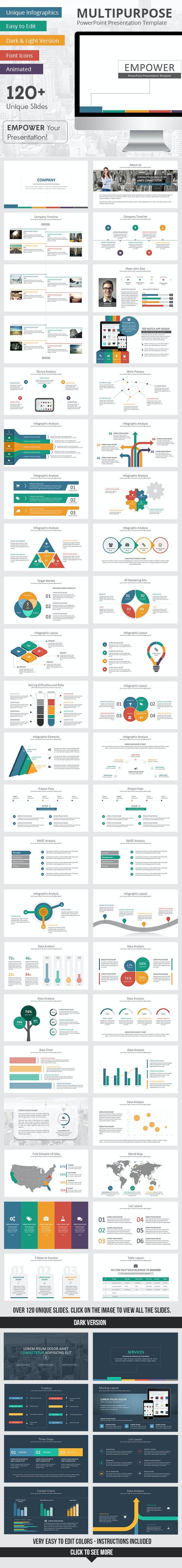 Empower PowerPoint Presentation Template - Business PowerPoint Templates