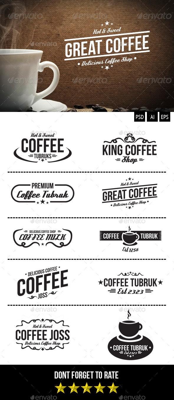 Retro Coffee Badges - Badges & Stickers Web Elements