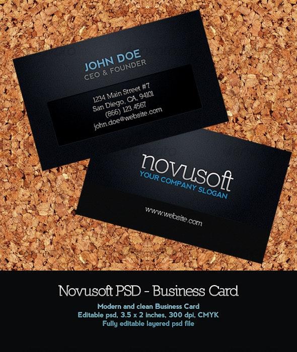 Novusoft - Business Card - Corporate Business Cards