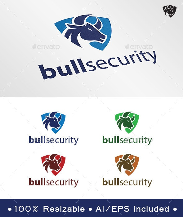 Bull Security Logo - Animals Logo Templates