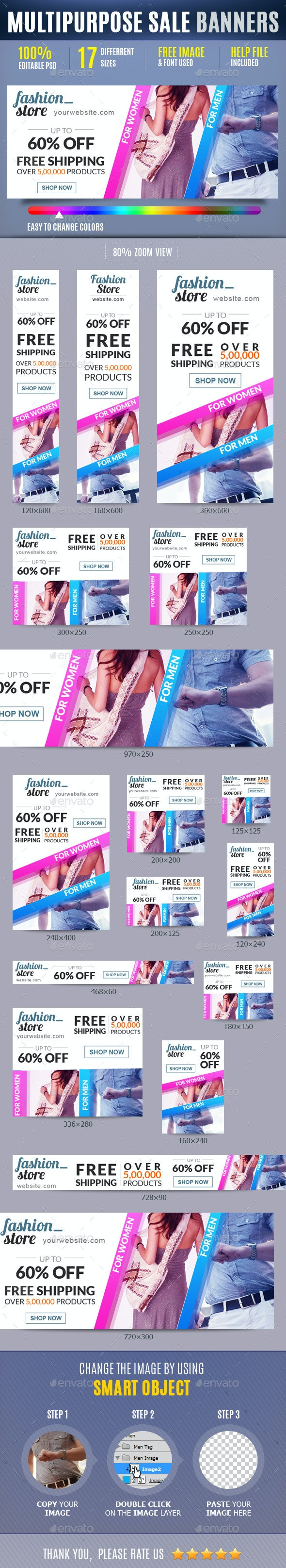 Multipurpose Sales Marketing Ad Banners Vol2 - Banners & Ads Web Elements