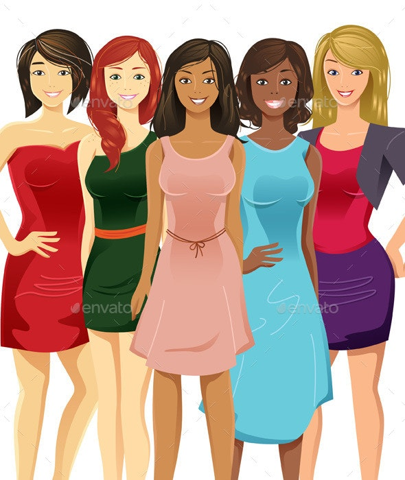 Multicultural Women - People Characters