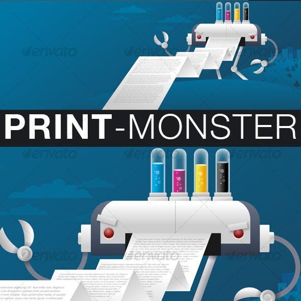 Giant Printer Monster