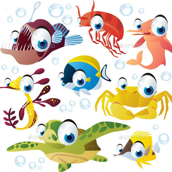 Vector Cartoon Animals Set