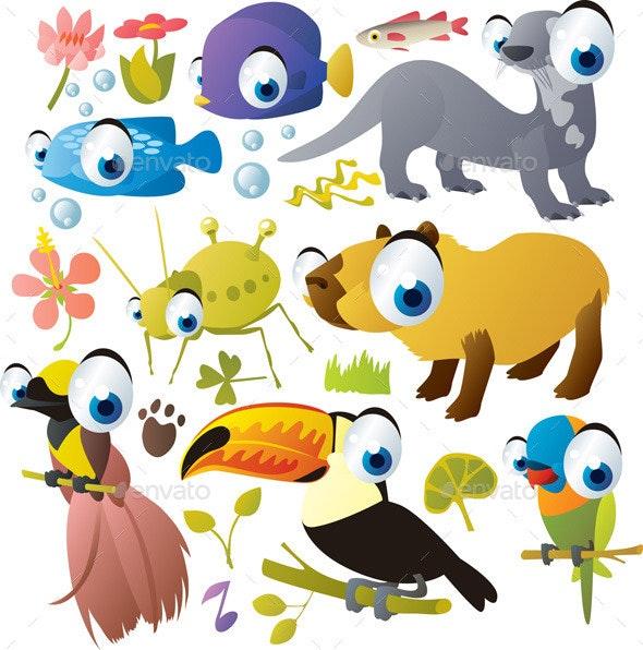 Vector Cartoon Animals Set - Animals Characters