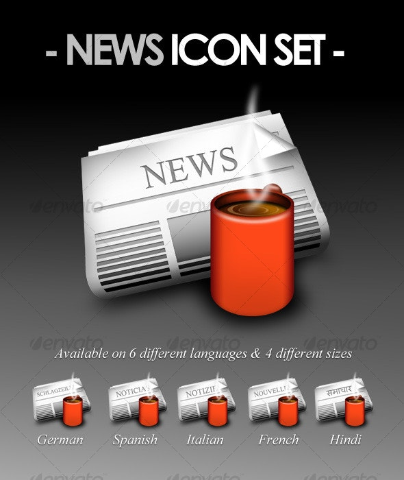 News Icon Set - Man-made objects Objects