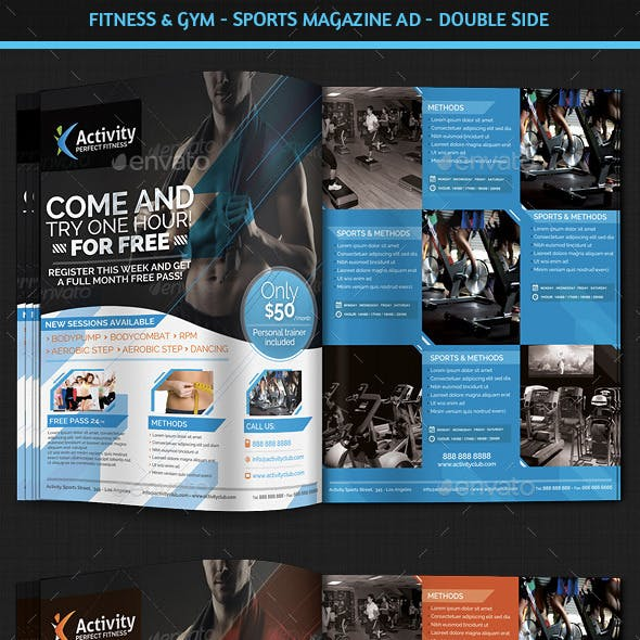 Fitness & Gym - Sports Magazine Ad
