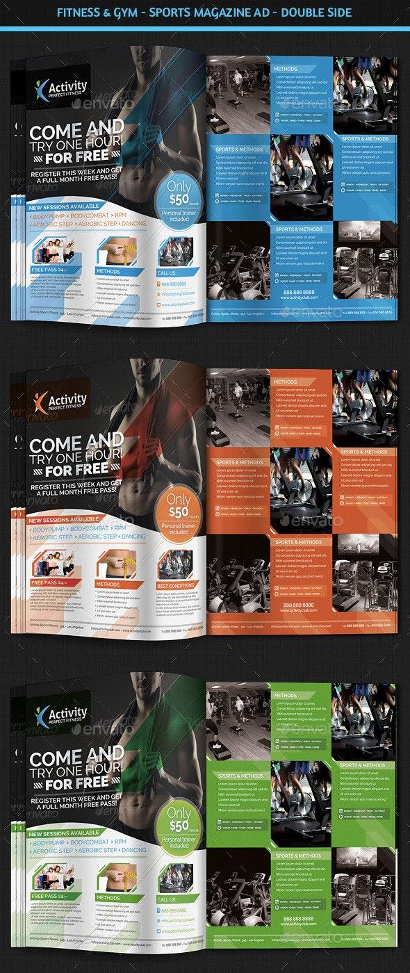 Fitness & Gym - Sports Magazine Ad - Magazines Print Templates