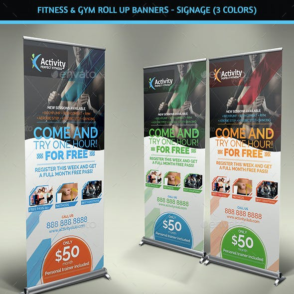 Fitness & Gym - Roll Up Banners Signage