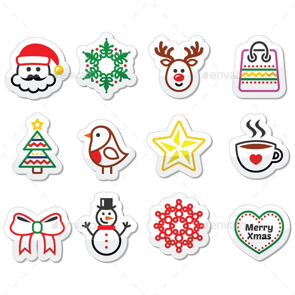 Christmas Winter Icons - Christmas Seasons/Holidays