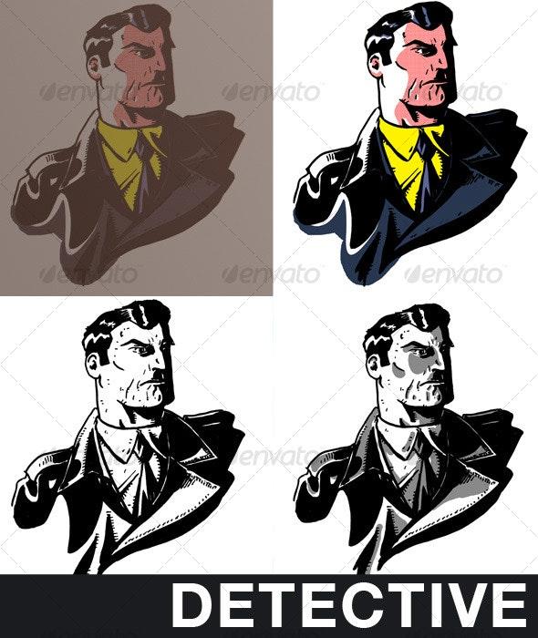 Detective Comics - People Illustrations