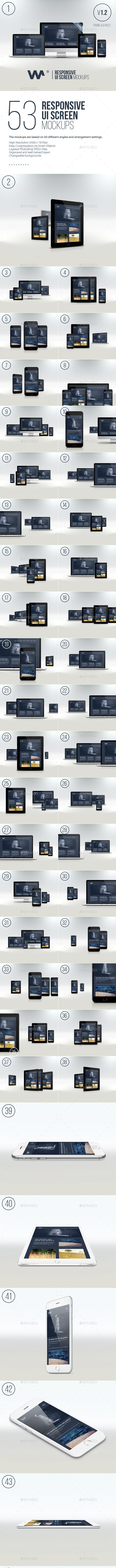 Responsive Website Devices & Screen Mockups