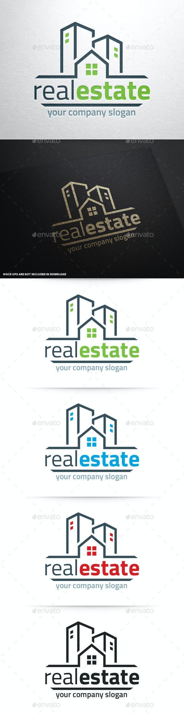 Real Estate Logo Template v2 - Buildings Logo Templates