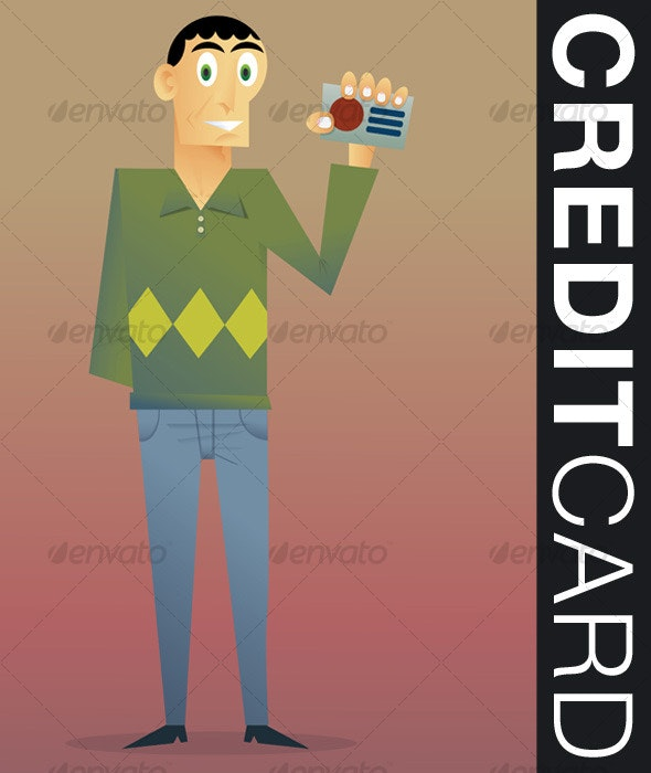 Credit Card - People Characters