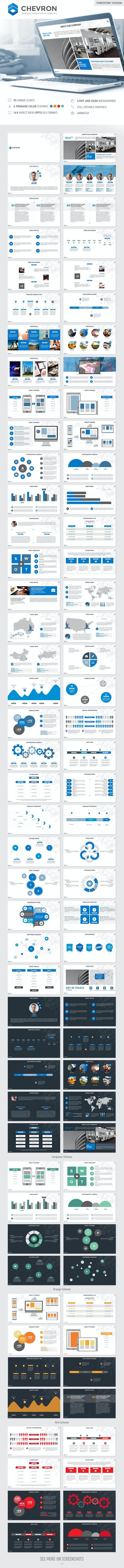 Chevron PowerPoint Presentation Template - PowerPoint Templates Presentation Templates