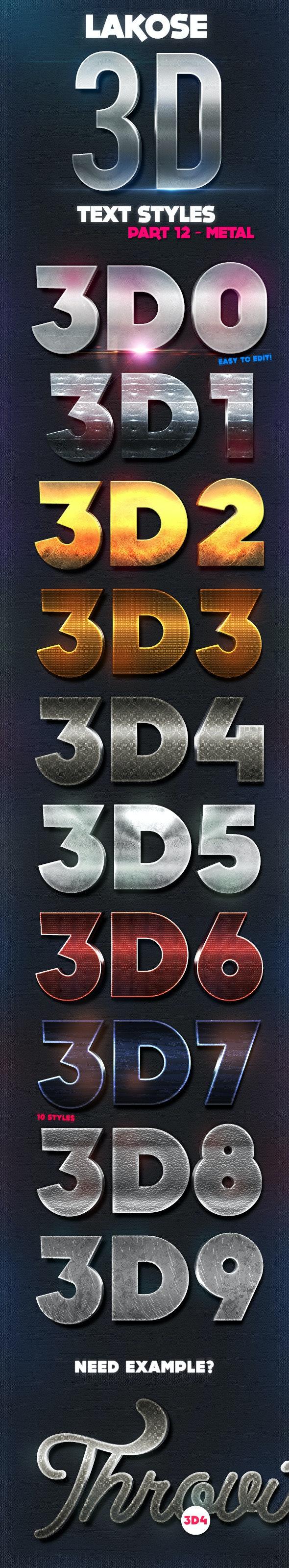 Lakose 3D Text Styles Part 12 - Text Effects Styles