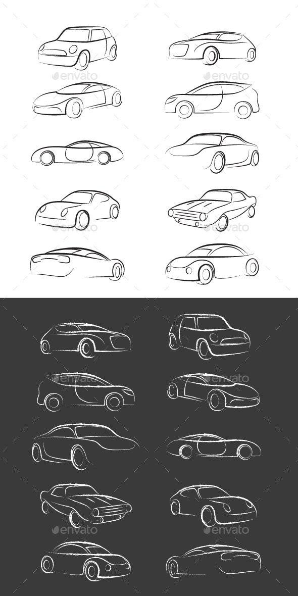 Car Line Brush - Sports/Activity Conceptual