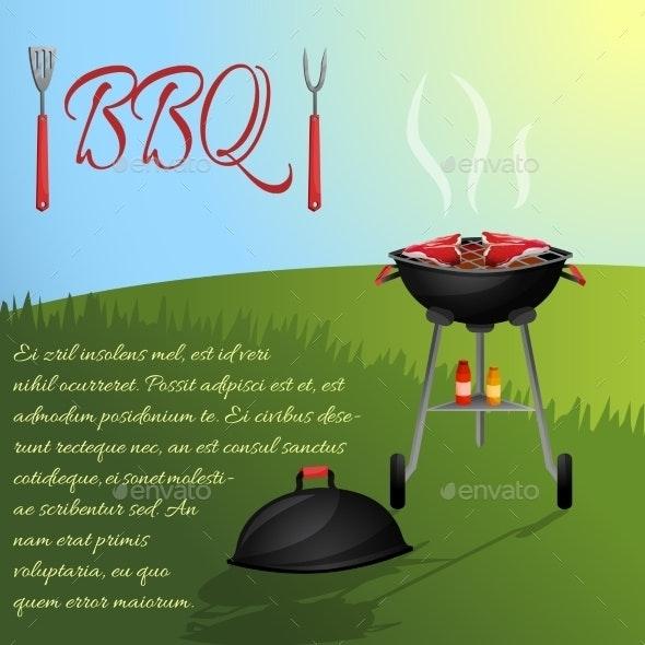 Bbq Menu Poster - Food Objects
