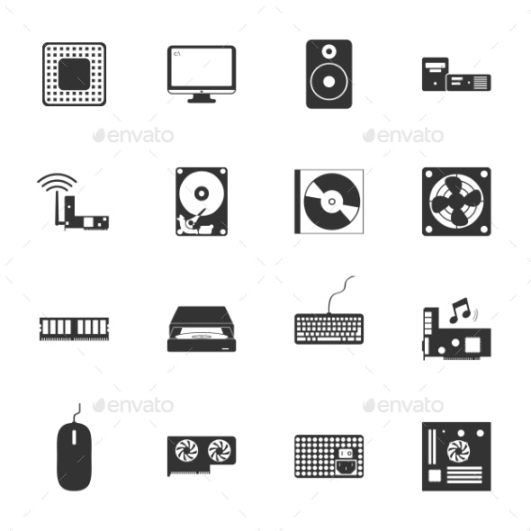 Computer Peripherals Icons - Web Technology